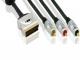 Więcej o Kabel SCART - Kompozyt + 2xRCA (z przełącznikiem) 1.5m